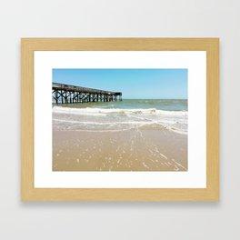 Turquoise Pier Framed Art Print