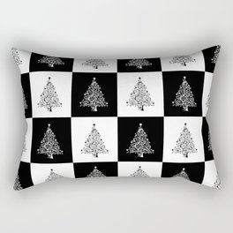 Christmas Tree Chess Rectangular Pillow