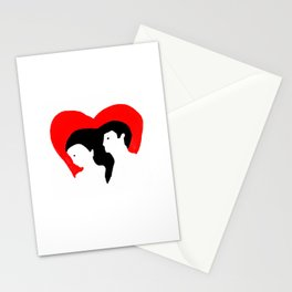 newlyweds heart Stationery Cards