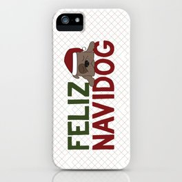 Feliz Navidog iPhone Case