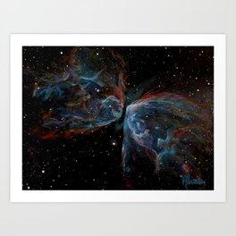 Butterfly Nebula Painting Art Print