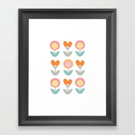 Whimsical flower print Framed Art Print