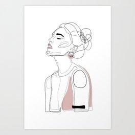 Blush Lip Art Print