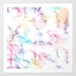 Rainbow Marble Pattern Art Print