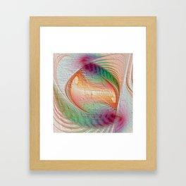 elegant flames -12- Framed Art Print