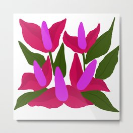Purple Pink Marvels Metal Print