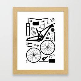 Bike Parts - Evil Framed Art Print