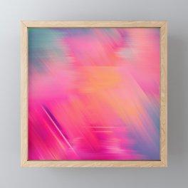 Modern abstract fuchsia violet coral brushstrokes Framed Mini Art Print