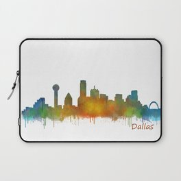 Dallas Texas City Skyline watercolor v02 Laptop Sleeve