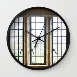 English Countryside Window Wall Clock