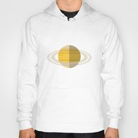 saturn Hoodies featuring Saturn by Pigzty