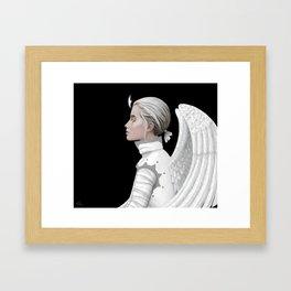 Contemplative Angel Framed Art Print