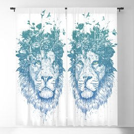 Floral lion Blackout Curtain