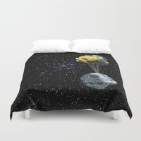 death star Duvet Covers featuring Death Star by J Styles Designs