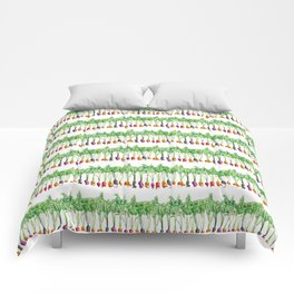 Funky Vegetables Comforters