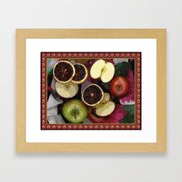 Apples and Blood Oranges Border Two Framed Art Print