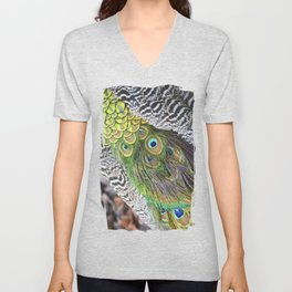 Peacock feathers pattern Unisex V-Neck