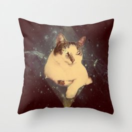 Lazer Kat Throw Pillow