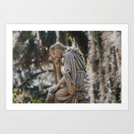 Bonaventure Cemetery - Statue of Eliza Wilhelmina Theus II Art Print