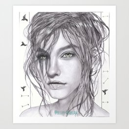 LADY PALVIN Art Print