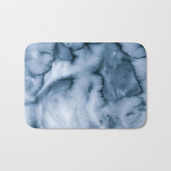 grey blues Bath Mat