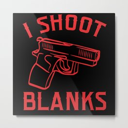 Shoot Blanks Bullet Firearms Kill Police Metal Print