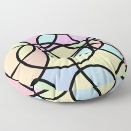 circle of life geometric print design Floor Pillow