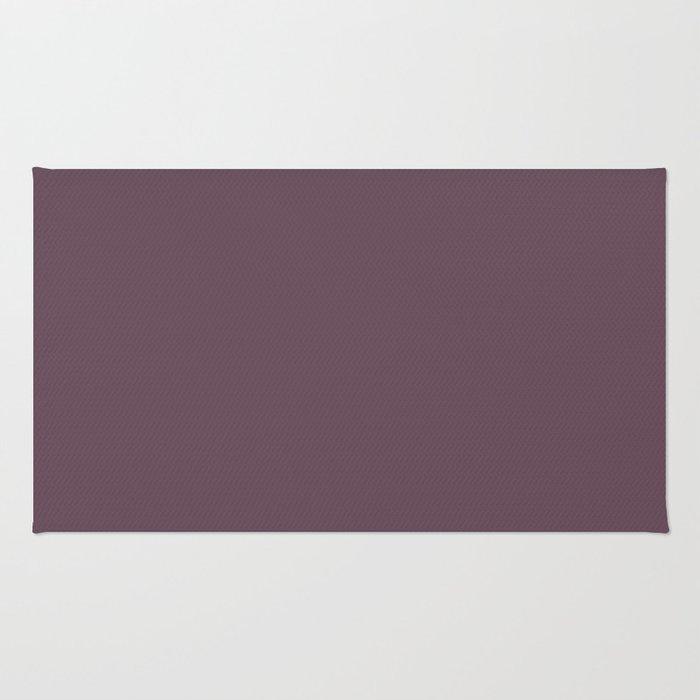 Plum Wine Purple Solid Colour Rug