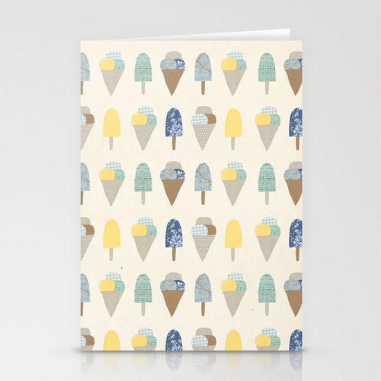 ice cream pattern  Stationery Cards
