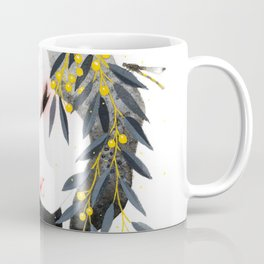 Thoughts of Spring in Black and Gold Coffee Mug