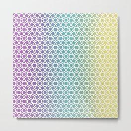 Gravity Tesselation Rainbow Metal Print