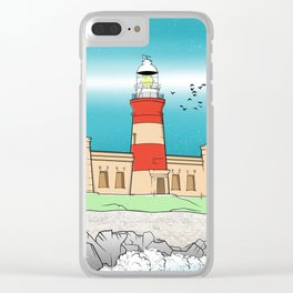 Cape Agulhas Lighthouse Clear iPhone Case