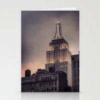 gotham Stationery Cards featuring Gotham by Amritha Mahesh