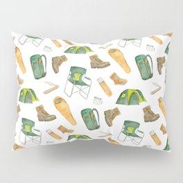 Watercolor camping pattern Pillow Sham