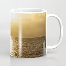 Golden Sunset Sail Coffee Mug