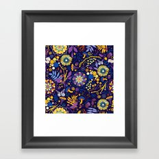 Ripe autumn – purple and yellow Framed Art Print