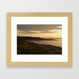 Yellow Sunset Framed Art Print