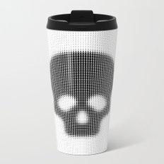 Halftone Skull Metal Travel Mug