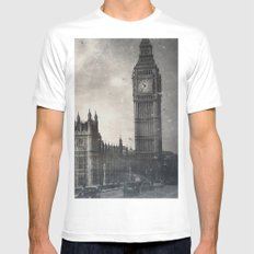 The Houses of Parliament, London MEDIUM Mens Fitted Tee White