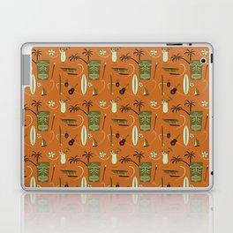 Orange Retro Hawaiian Tiki Hawaii Beach Laptop & iPad Skin