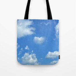 Blue sky and clouds Tote Bag