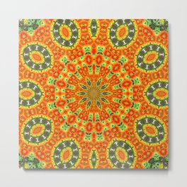 Kaleidoscope of Bold Orange Gazanias  Metal Print