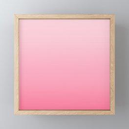 Minimalistic Pink Gradient Framed Mini Art Print