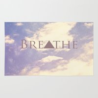 breathe Area & Throw Rugs featuring Breathe by Rachel Burbee