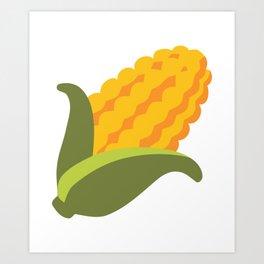 Corn Emoji Art Print