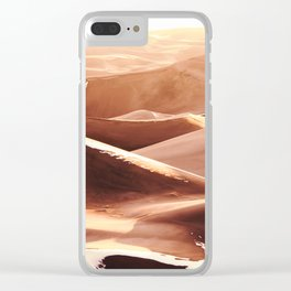 Cold Dunes Clear iPhone Case