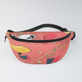 colorful Indian elephant and mouse Fanny Pack