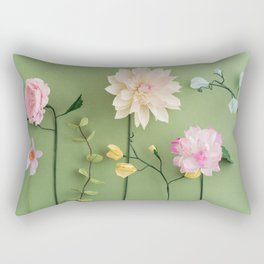 Crepe paper flowers Rectangular Pillow