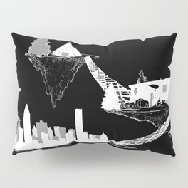 Islands - Black Pillow Sham