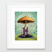mushroom Framed Art Prints featuring Mushroom by Lauren Stenger